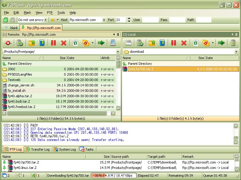 Windows 7 FTP Rush 2..2.0 full