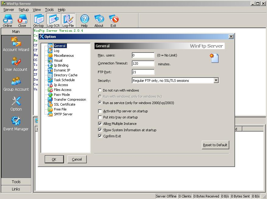 The most simple and powerful FTP server software for windows Screen Shot
