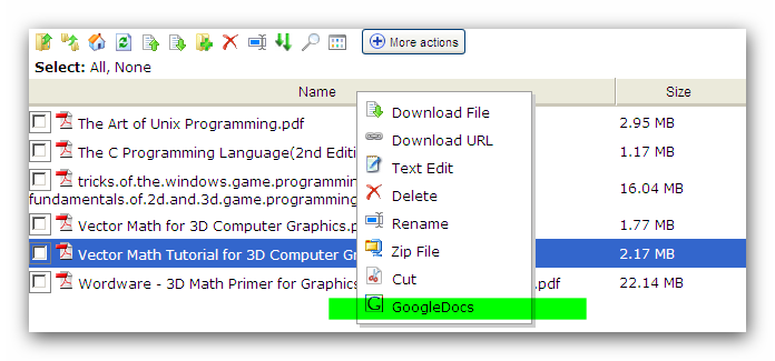 Wing FTP Software - Forum - GoogleDocs (for quickly viewing